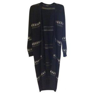 Top Shop Black Maxi Cardigan Sweater